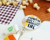 pumpkin spice latte - fall - candy corn planner /bible journaling jumbo paper clip bookmark