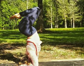 Bamboo Yoga Pants Blue High Waist Leggings