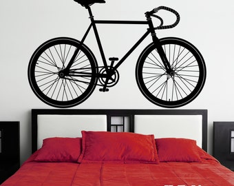 Fixie Bicycle Vinyl Wall Decal K604