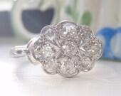 Payment for CALAIS. Spectacular Vintage Platinum Diamond Engagement Ring. Total Diamond Weight .75 Carats. Old European Cut Diamonds.