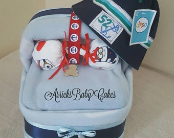 "The ""It's A Boy"" Bassinet Diaper Cake"