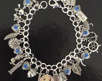 Peter Pan Charm Bracelet, Neverland, Wendy, The Lost Boys, Hook, Jewelry, Jewellery