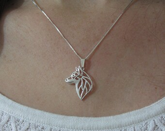 Swedish Vallhund jewelry - sterling silver pendant and necklace