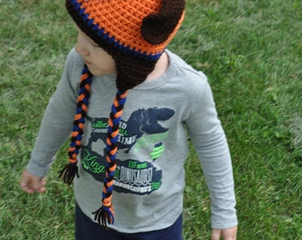 "Crochet newborn, baby, toddler or kids ""Zuma"" Paw Patrol inspired hat"