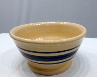 Vintage Marshal Pottery Kenneth Wingo Master Potter Small Crock Stoneware Mixing Bowl