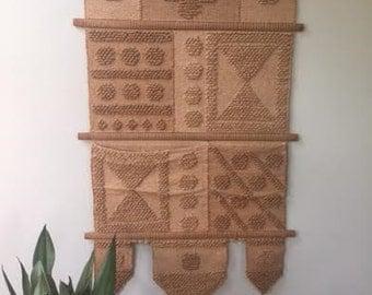 Large Don Freedman Fiber Art Woven Wall Hanging Weaving Textile Tapestry