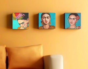 40 % Off  Frida Kahlo Print Set Canvas Wrap Mexican Folk Art Wall  Corporate Art Grouping Mexican Home Decor, Giclee Frida Poster Painting