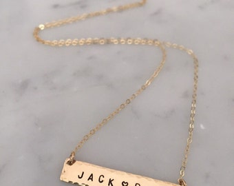 Bar necklace, personalized