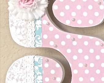Custom Nursery Letters - Baby Girl Nursery Decor, Wooden Letters, Personalized Baby Gift, Wall Letters for Nursery -The Rugged Pearl