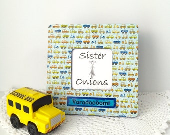Varooom - Decoupaged Picture Frame - Cars, Trucks, Scooters - Little Boy's Room Decor - Nursery Decor, Photo Frame