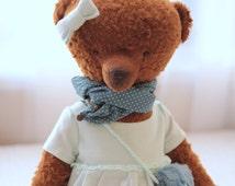 Teddy Bear Zoe Soft Toys Stuffed Animal Artist Teddy Bears Artist Bear OOAK