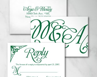Arya Reply Card | Digital RSVP Card | Printed RSVP Card | Printed Reply Card |Digital Reply Card