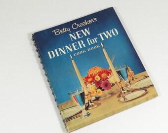 1964 Betty Crocker Cookbook - New Dinner for Two - Vintage Cookbook 60s Cookbook
