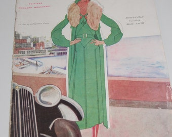 Vintage Fashion Magazine French 1930's Modes et Travaux no. 257 Sewing and Knitting