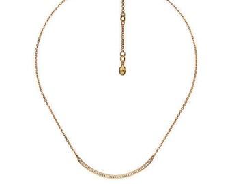 Pavé Curved Bar Necklace