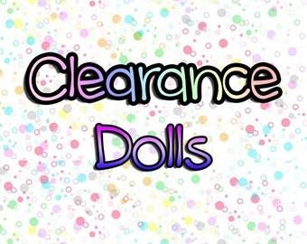 Clearance Sale Dolls, OOAK, Amigurumi Dolls, Crochet Doll, Various Dolls