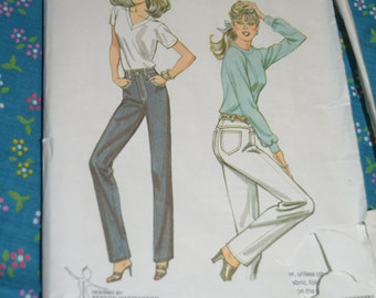 Kwik Sew 1204 Misses Jeans Sewing Sewing Pattern - UNCUT - Sizes 6 8 10 12