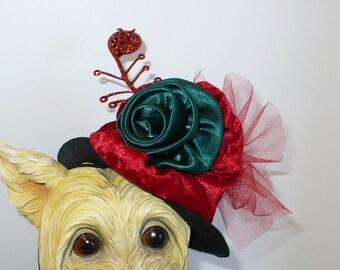 Victorian Christmas pet hat.