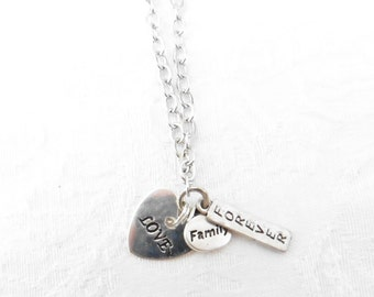 Family Forever Necklace / women's jewelry / teen Jewelry / men's jewelry / jewelry / Forever Family