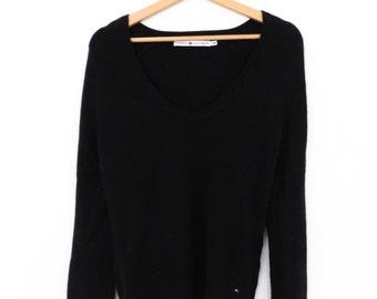 TOMMY HILFIGER wool and angora black sweater size M