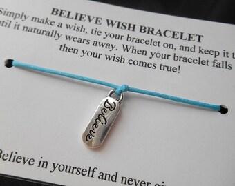 BELIEVE Wish Bracelet - Light Blue