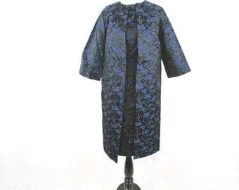 1960s Brocade Hour Glass Wiggle Dress and Coat Set Custom Made