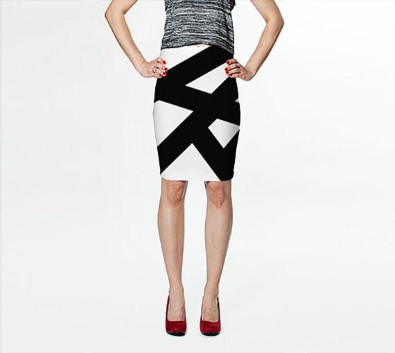 black and white skirt fitted skirt black skirt pencil