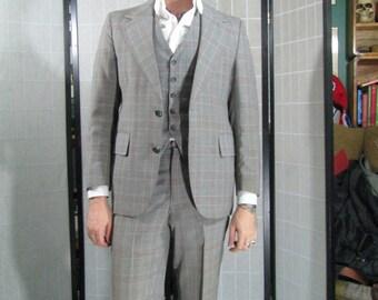 Victorian/ Edwardian Style 3pc Plaid Suit