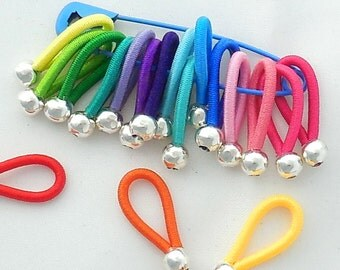 "choose SIZE - FLOOPS  knitting stitch markers - ""Brilliant"" - great gift for Knitters"