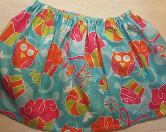 Owls and Cupcakes Sprinkle Skirt 0-3M - 3T