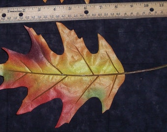 Big fall Oak leaves,6/pkg,large,single accent leaves,indoor use,autumn earth tones,Fall,florals
