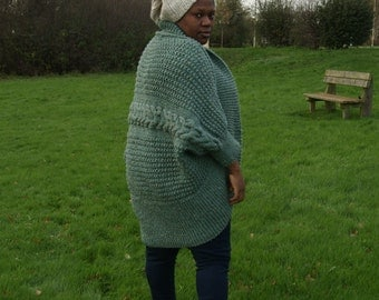 Chunkyknit Fuller figure/extra large cocoon Jumper/knitted jumper READY TO SHIP