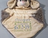Personalized Baby Gift,  Bunny Shown Wee Snuggle Blanket, Special Baby Gift, Baby Gift by Felicia's Fancies