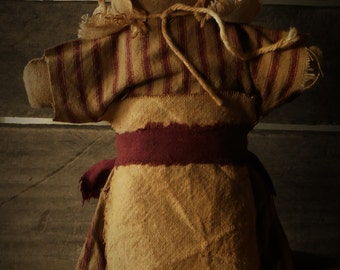Primitive Colonial Stump Sitter Doll