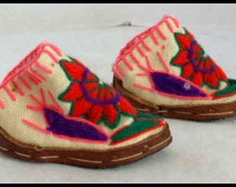 Vintage Handmade Ethnic Doll Shoes