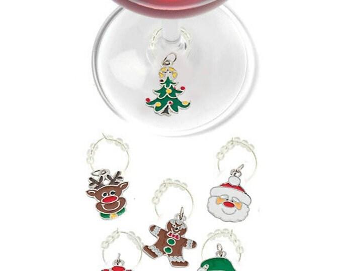 Christmas Wine Charms - Oh Deer 6 Pack
