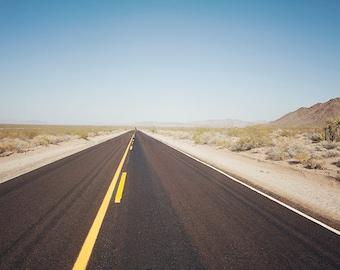 California Route 66 Photography, Desert Highway, Mojave Desert, Travel Photography, Art, Print, Large Wall
