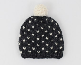 Kids Fair Isle Knit Pom-Pom Hat Toddler Hat Baby Hat | THE Little INVERNESS