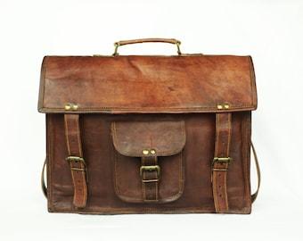 Mens Leather Messenger Bag - Madison