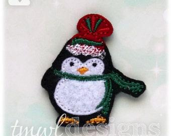 """Winter Penguin A Feltie Digital Design File - 1.75"""""""