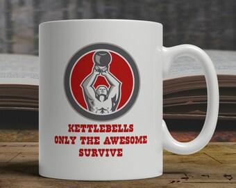 Kettlebell mug, kettelbell gift, kettlebell training mug, kettlebell exercise mug crossfit mug crossfit gift weightlifting mug gym mug E1013