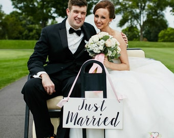 Just Married Wooden Sign, Just Married Wedding sign, Here comes the Bride, Mr and Mrs, wedding decor, wedding photo prop
