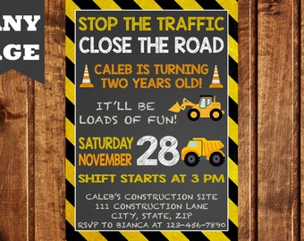 Dump Truck Birthday Invitation, Construction Birthday Invitation, Construction Party, Construction Birthday, Construction Invitation, Boys