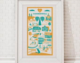 Camberwell print / London illustration