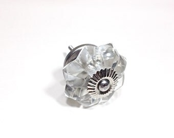 antique style scalloped glass knob crystal knob antique hardware historical drawer pulls