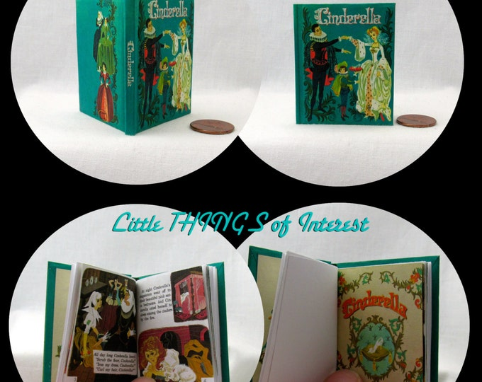 CINDERELLA Illustrated Book in 1:3 Scale Readable Book 18 Inch American Girl Doll Book free shipping 18 inch AG Doll 1/3 Scale