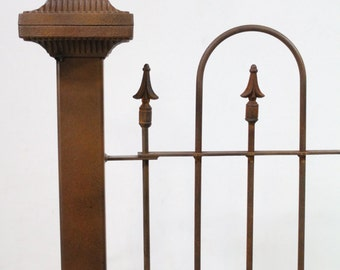 """3""""sq Wrought Iron Levenworth Fence Post for Fencing and Gates Support"""