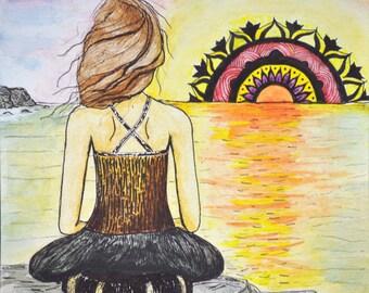 Meditation Art - Yoga Art - Meditation Altar - Meditation Print -  Mandala Print - Meditation Wall Art - Minimalist Art