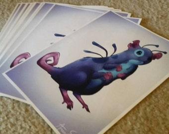 Stitch Rat 8.5x11 glossy art prints