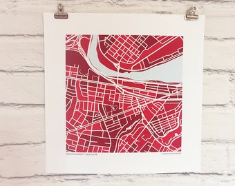 Boston University Map Print